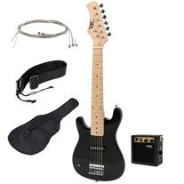 "New 30"" Kids Black Electric Guitar With Amp & Much More"