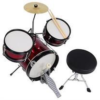 3pcs Junior Kids Child Drum Set Kit Sticks Throne Cymbal