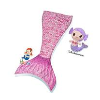 Blankii Kids Mermaid Tail Blanket with Mia Mermaid Doll,