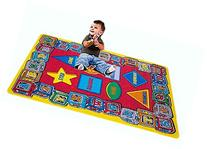Kids Rug ABC Shapes 3' X 5' Children Area Rug for Playroom