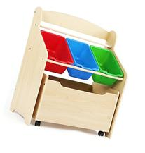 Tot Tutors Kids' Store-All Unit, Natural Finish