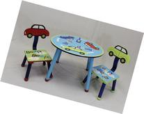 eHemco Kids Table and Chair Set - Car Theme