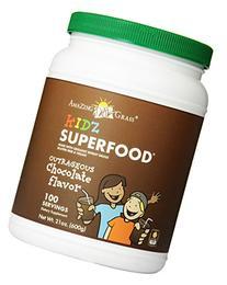 Kidz SuperFood Powder Chocolate-100 Servings Amazing Grass