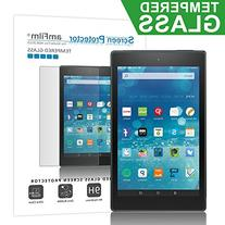 amFilm Fire HD 8 2015 Tempered Glass Screen Protector for Kindle Fire 8