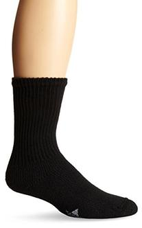 WigWam Men's King Crew Athletic Socks, Large, Black