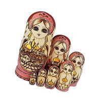 King&Light - 7pcs Castle Russian Nesting Dolls Matryoshka