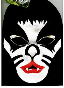Kiss Music Band Full Face Ski Mask Beanie Hat Cap - Black
