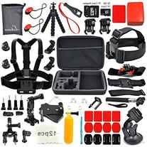 LEKNES Camera Accessory Kit for GoPro Hero 5/Hero 5 Session/
