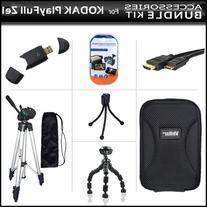 Accessories Bundle Kit For Kodak PlayFull Ze1 HD Video