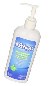 Kleenex Moisturizing Instant Hand Sanitizer , No Rinse, 12 8