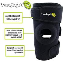 Knee Brace With Dual Side Stabilizer, Open Patella, &