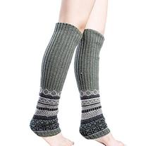 Women's Adult Knee High Winter Cable Knit Long Leg Warmers