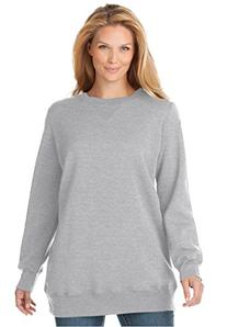 Women's Plus Size Soft Knit Better Fleece Sweatshirt Tunic