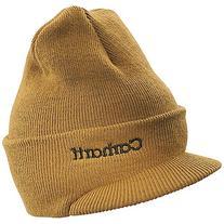 Carhartt Men's Knit Hat with Visor, Brite Orange, One Size
