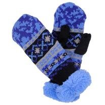 Molehill Boys Knit Mittens, Digital Blue, Large