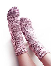 Vero Monte 6 Pairs Womens Knitted Cotton Casual Crew Socks