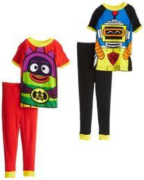 Yo Gabba Gabba Little Boys' Costume 4-Piece Cotton Pajama