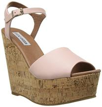 Steve Madden Women's Korkey Wedge Sandal, Pink, 6 M US