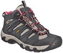 KEEN Women's Koven Mid WP Hiking Boot, Raven/Slate Rose, 5.5