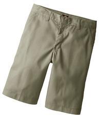 Dickies KR123KH 14 Boys Khaki Flex Waist Flat Front Short
