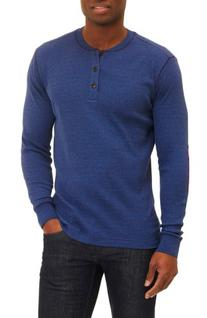 Men's Robert Graham Kranz Henley, Size Large - Blue