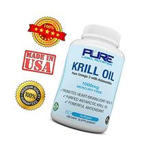 Pure Label Nutrition Krill Oil 1000mg with Astaxanthin, 60