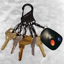 Nite Ize KeyRack Locker, Stainless Steel Carabiner with Six