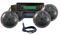 Pyle KTMR14SP Waterproof Marine CD/MP3 Player Receiver w/4