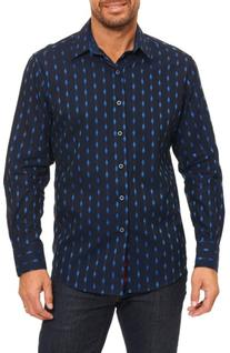 Men's Robert Graham Kumar Sport Shirt, Size X-Large - Blue
