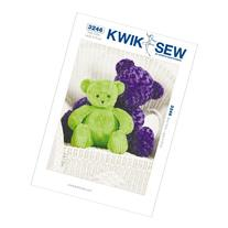 Kwik Sew K3246 Teddy Bears Sewing Pattern, Size Large and