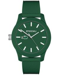 Lacoste Men's L.12.12 Green Silicone Strap Watch 43mm