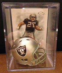 L.A. Raiders NFL Helmet Shadowbox w/ Howie Long card