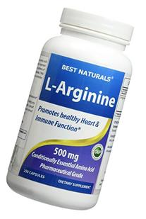 Best Naturals L-Arginine 500mg 250 Capsules