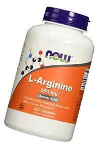 NOW Foods L-Arginine 500mg, 250 Capsules
