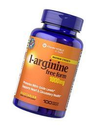 Vitamin World L-Arginine Free Form Maximum Strength 1000 mg