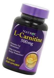 Natrol L-Carnitine 500mg Capsules, 30-Count