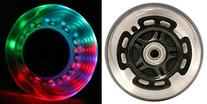 L.E.D. Scooter Wheels With Abec 9 Bearings for Razor