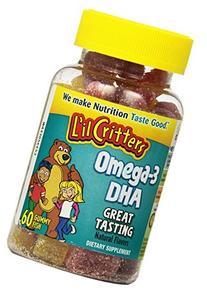 L'il Critters Omega-3 Vitamin Gummy Fish, 60 Count