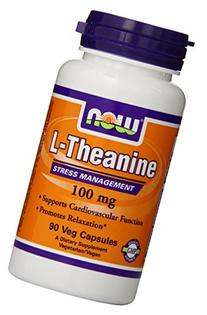 NOW L-THEANINE 100 MG with Decaffeinated Green Tea - 90