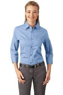 Port Authority Women's 3/4 Sleeve Easy Care Shirt XXL Light