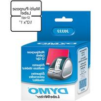 DYMO Authentic LW Extra-Small Multi-purpose Labels for LabelWriter Label Printers, White, 1/2'' x 1'', 1 roll of 1,000