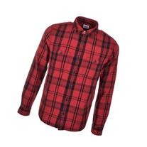 Edwin Labour Check Flannel Shirt Red