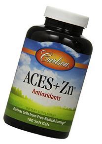 Carlson Labs ACES + Zn Antioxidants, 180 Softgels