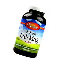 Carlson Labs Chelated Calcium with Magnesium, 180 Tablets