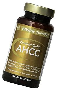 Quality of Life Labs Mushroom AHCC Kinoko Gold 500 mg 60