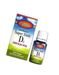 Carlson Labs Super Daily D3 2000IU Supplement, 10.3 ml 0.35