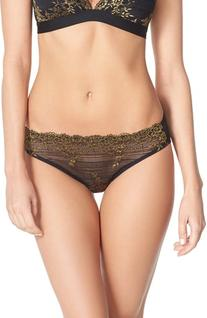 Women's Wacoal 'Embrace' Lace Bikini, Size Medium - Black