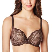 Wacoal Womens Lace Finesse Contour Bra, Naturally Nude, 32D