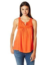 Women's Lucky Brand Lace Inset Split Neck Tank, Size Small