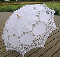 Tinksky Lace Umbrella Parasol Romantic Wedding Umbrella